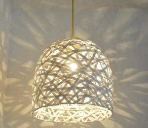 lampu dari kayu rotan keren
